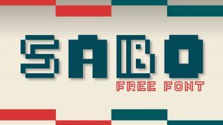 Free retro fonts Sabo