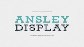 Free retro fonts Ansley