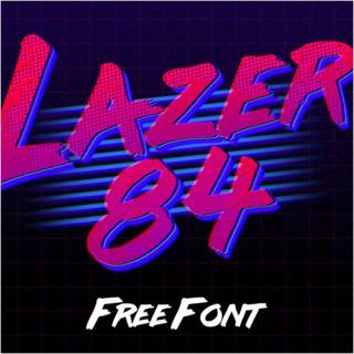 Free retro fonts Lazer 84