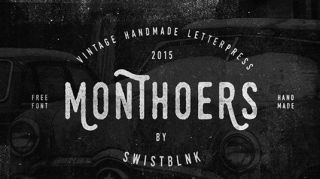 Free retro fonts Monthoers