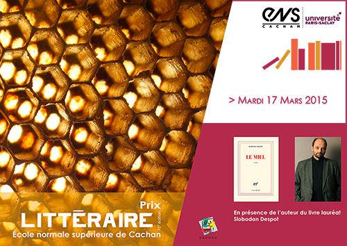 Prix littéraire 2015 de l'ENS Cachan
